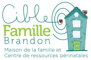 Logo Cible famille Brandon : maison de la famille et centre de ressources périnatales